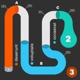 Modello infographic di cronologia della metropolitana illustrazione vettoriale