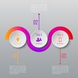 Modello infographic di cronologia di progettazione moderna Fotografie Stock Libere da Diritti