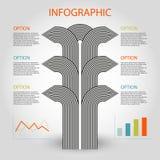 Modello infographic di cronologia di 6 punti di affari Fotografie Stock Libere da Diritti