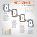 Modello infographic di cronologia di 4 punti di affari Fotografie Stock Libere da Diritti
