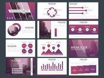 Modello infographic di presentazione degli elementi del pacco blu rapporto annuale di affari, opuscolo, opuscolo, aletta di filat illustrazione di stock