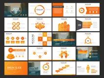 Modello infographic di presentazione degli elementi del pacco rapporto annuale di affari, opuscolo, opuscolo, aletta di filatoio  royalty illustrazione gratis