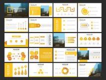 Modello infographic di presentazione di 20 elementi del pacco rapporto annuale di affari, opuscolo, opuscolo, aletta di filatoio  Fotografie Stock Libere da Diritti