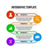 Modello infographic di progettazione del cerchio di flusso variopinto di punto royalty illustrazione gratis