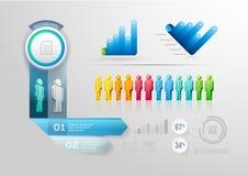 Modello infographic di progettazione della gente Fotografia Stock Libera da Diritti