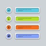 Modello infographic di progettazione di affari del colorfull di vettore Fotografie Stock Libere da Diritti
