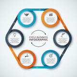 Modello infographic di progettazione di vettore Immagini Stock Libere da Diritti