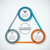 Modello infographic di progettazione di vettore Fotografia Stock