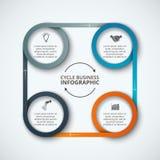 Modello infographic di progettazione di vettore Fotografia Stock Libera da Diritti