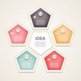 Modello infographic di progettazione di vettore Concetto di affari con 5 opzioni, parti, punti o processi Può essere usato per la illustrazione di stock