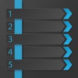 Modello infographic di progettazione piana moderna Fotografia Stock