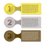 Modello infographic di progresso di tre punti Fotografia Stock Libera da Diritti