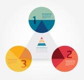 Modello infographic di stile minimo di progettazione moderna. Fotografia Stock Libera da Diritti