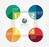 Modello infographic di stile minimo di progettazione moderna. Fotografie Stock Libere da Diritti
