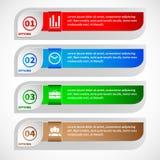Modello infographic di stile minimo di progettazione moderna Fotografie Stock Libere da Diritti