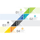 Modello infographic di stile minimo di progettazione moderna Fotografia Stock