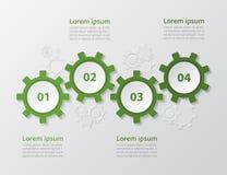 Modello infographic di vettore Fotografie Stock