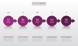 Modello infographic di vettore Fotografie Stock Libere da Diritti