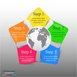 Modello infographic di vettore Fotografia Stock