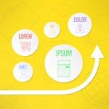Modello infographic di vettore con i cerchi adatti Immagine Stock Libera da Diritti