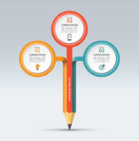 Modello infographic di vettore con 3 opzioni royalty illustrazione gratis