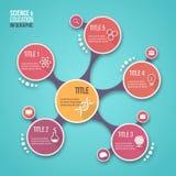 Modello infographic di vettore di progettazione della molecola per i grafici, i grafici, i diagrammi e l'altro infographics Fotografia Stock Libera da Diritti