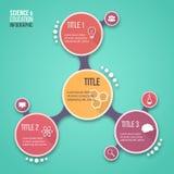 Modello infographic di vettore di progettazione della molecola per i grafici, i grafici, i diagrammi e l'altro infographics Immagini Stock