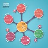 Modello infographic di vettore di progettazione della molecola per i grafici, i grafici, i diagrammi e l'altro infographics illustrazione di stock