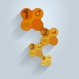 Modello infographic graduale Immagini Stock