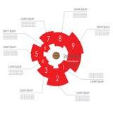 Modello infographic graduale Fotografia Stock