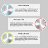Modello infographic moderno Fotografia Stock Libera da Diritti