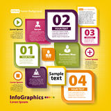 Modello infographic moderno per il gruppo di affari Fotografia Stock Libera da Diritti