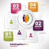 Modello infographic moderno per il gruppo di affari Fotografia Stock