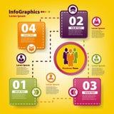 Modello infographic moderno per l'affare Fotografie Stock Libere da Diritti