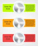Modello infographic moderno per progettazione di affari Immagini Stock Libere da Diritti