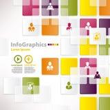 Modello infographic moderno per progettazione di affari con fondo Immagine Stock