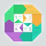 Modello infographic piano con le frecce Immagine Stock
