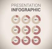 Modello/infographics morbidi moderni di disegno di colore Fotografie Stock