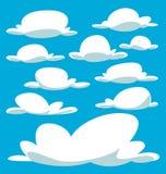 Modello ingombrante della nuvola isolato disegno del fumetto di vettore illustrazione di stock
