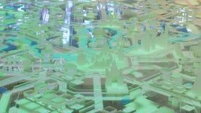 Modello interattivo della città 3D di Mosca archivi video