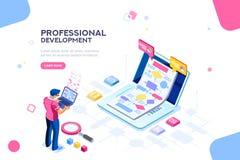 Modello interattivo tecnico per il sito Web illustrazione vettoriale