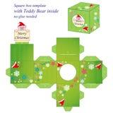 Modello interessante della scatola di Natale Immagine Stock