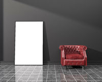 Modello interno Manifesto in bianco illustrazione vettoriale
