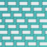 Modello intrecciato del tessuto, fondo blu Immagini Stock
