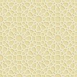 Modello islamico dell'oro della stella Fotografia Stock