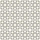 Modello islamico geometrico senza cuciture astratto della carta da parati illustrazione vettoriale