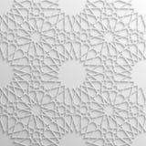 Modello islamico senza cuciture 3d Elemento arabo tradizionale di progettazione Immagine Stock