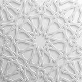 Modello islamico senza cuciture 3d Elemento arabo tradizionale di progettazione Fotografia Stock Libera da Diritti