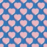 Modello isometrico senza cuciture del cuore Fotografie Stock Libere da Diritti
