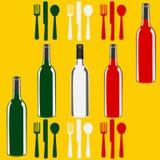 Modello italiano del menu del vino Fotografie Stock Libere da Diritti